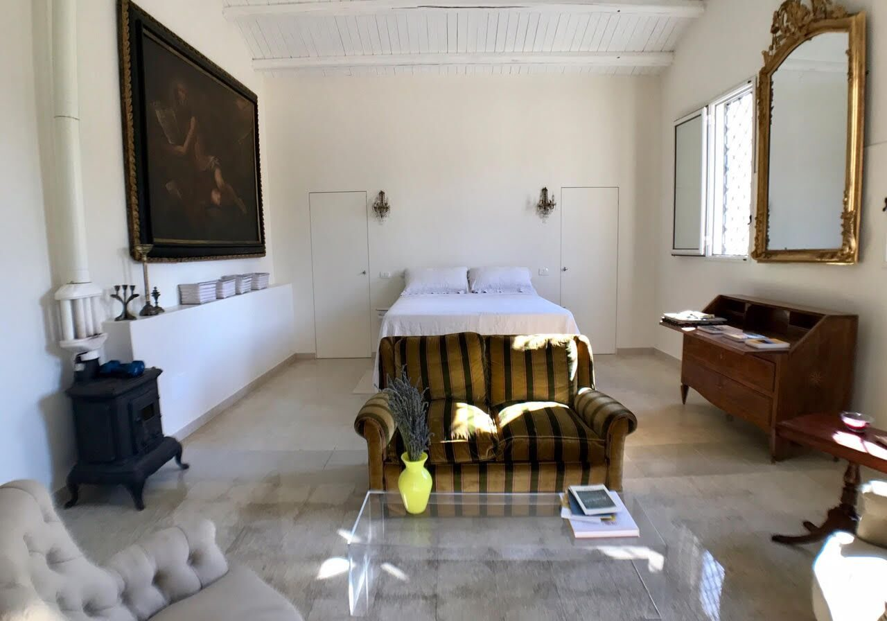 The rooms at Danena are all uniquely furnished with both modern and antique furnishings and art.