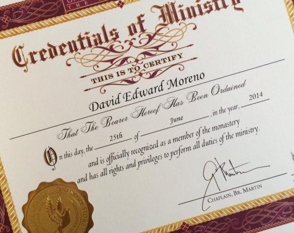 MorYoga - David Moreno - Ordained Minister